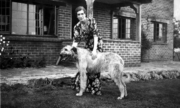 Georgette Heyer with her Irish wolfhound, Misty Dawn, in 1939. Photograph: Georgette Heyer Estate